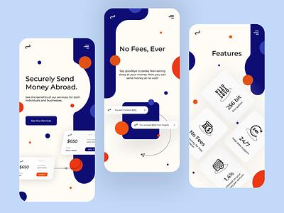 Silo Money Transfer App illustration money transfer bank app mobile design mobile ui mobile