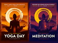 Printable Yoga and Meditation posters / flyers