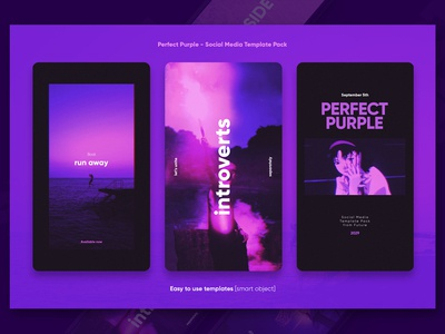 Perfect Purple - Social Media Templates + Stories