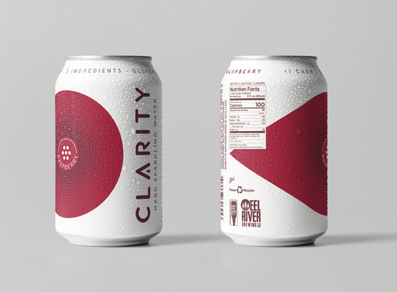 Clarity Hard Sparkling Water Raspberry Can design branding product design consumer goods packaging design packaging