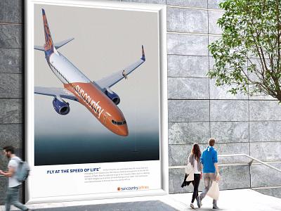 Fly at the Speed of Life Campaign Fisherman campaign graphic design design poster design poster billboard design billboard photo manipulation