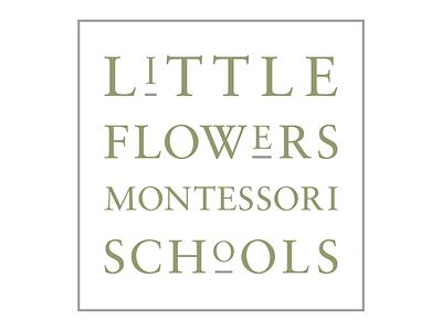 Little Flowers Montessori Schools Logo Mark design graphic design brand identity brand design branding brand logo design logo
