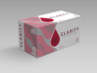 Clarity Hard Sparkling Water Rejected Pack branding consumer goods brand identity beer branding branding design brand design packaging design package design packaging