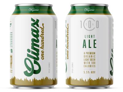 Climax 100 Organic Beer Can beer branding beer label beer art beer can beer can design packagingdesign brand design packaging design packaging branding consumer goods branding design brand identity