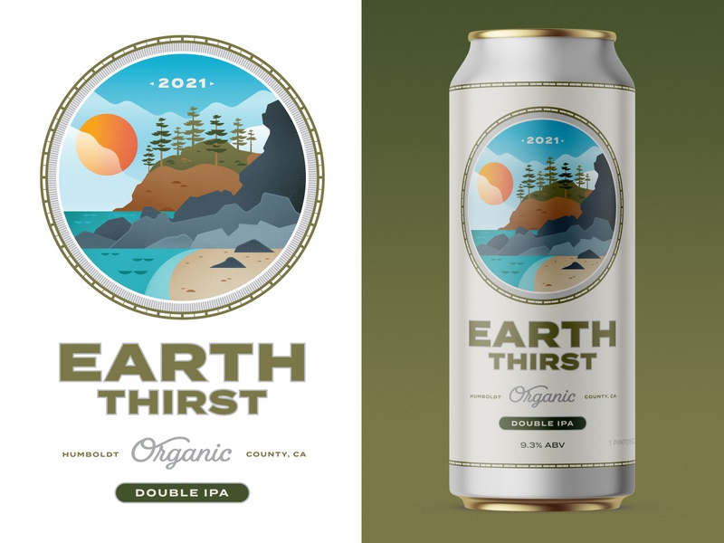 Earth Thirst 2021 consumer branding consumer goods organic food packaging design beer branding beer art beer label beer can design beer can