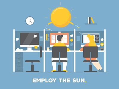 Employ the Sun illustration art graphic design illustration design illustration campaign solar energy solar green energy
