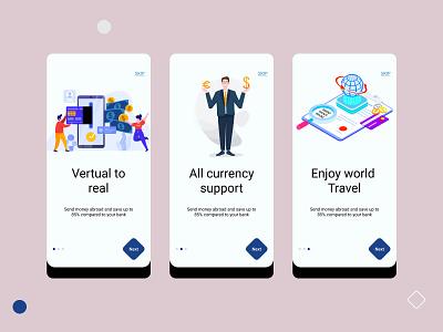 Currency converter app onboarding concept app designer app design app onboarding onbording 2020 trend clean ui app ui ui design ui