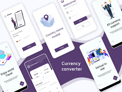 Currency converter app design ui app ui ios app uidesign 2020 trend clean ui ui design converter currency currency exchange currency converter