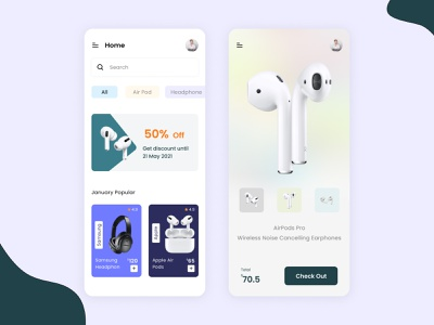 E commerce Mobile App ui trending ui trending clean iphone airpod ecommerce app ecommerce app ui ux uidesign clean ui app ui ui design ui