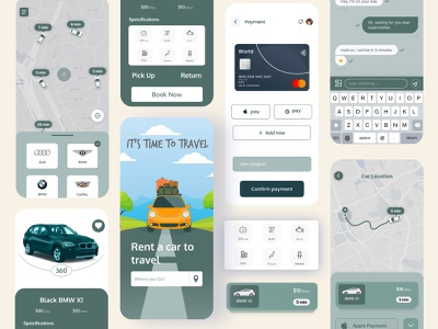 Car rental app design concept travel app travel car booking app car booking car rental app car rental car app car clean iphone design app app ui ux uidesign clean ui app ui ui design ui