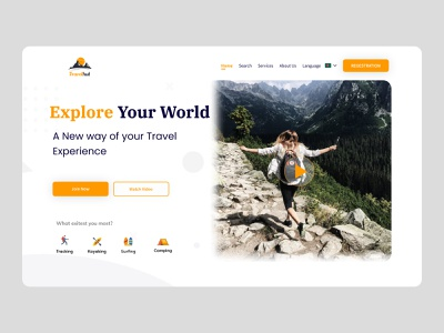 Travel hunt web ui travel website travel web travel agency website web uxdesign uxui ux ecommerce 2020 trend design uidesign app ui clean ui ui design ui ux design ui alam uxalam