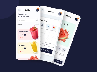 Juicy app ui design concept trending ui online shop shop drink food and drink food app food fruit ux design uxalam ecommerce app ecommerce app app ui ux design app ui uidesign ui design clean ui ui