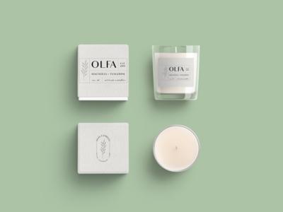 Olfa Candle Mockup