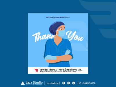 Nurses Day - Rawabi Poster healthworkers nursesday nurses rawabi kozhikode design jazzstudio brandingreimagined branding