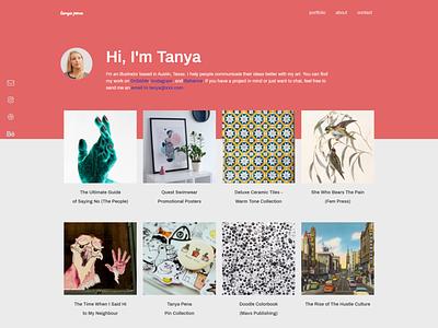 Pena front end dev frontend website web design interface portfolio web design