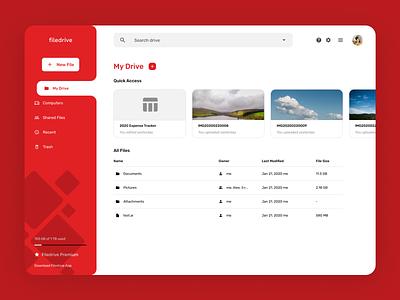 File Storage Service Web UI file manager file sharing ui design file upload product web design app interface design