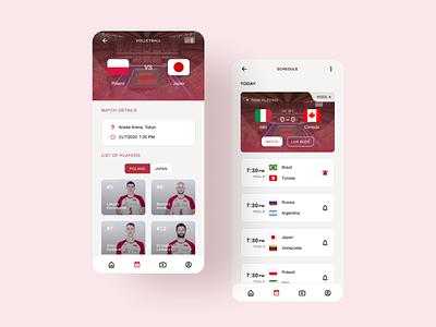 Olympics Mobile UI Concept sport mobile app mobile ui design product app interface design