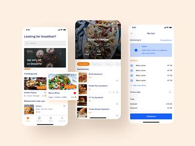Food Delivery Mobile UI Concept food app food mobile app mobile ui design product app interface design