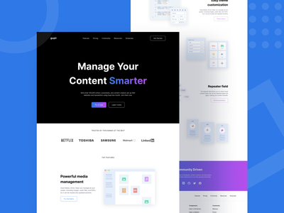 Gupii - Sass Website Landing Page features sass ui design branding landing page design illustration landing page app product web design interface design