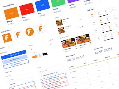 Food Delivery App UI Components & Guideline brand guideline color button minimal concept restaurant food delivery clean card typogaphy web dribbble ui component ui ux design ui app ui ux user ui design uxdesign