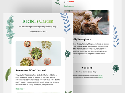 Gardening Blog Email Newsletter marketing responsive concept minimal templates freebie dribbble clean ui blog gardening email newsletter email marketing email newsletter email design email template template product
