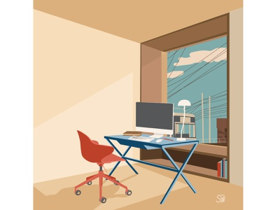 study room goal! interior design interior furniture flat illustration vector flatdesign adobe illustrator digital illustration vector design illustration