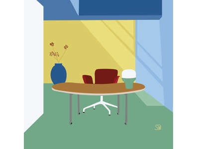 the light vector flat  design studyroom study interior interior design adobe illustration adobe illustrator digital illustration vector design illustration
