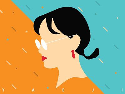 Yaeji&raingurl koreangirl asiangirl girl album cover cover raingurl yaeji neoncolores vector digital illustration colors design vector design adobe illustration adobe illustrator illustration