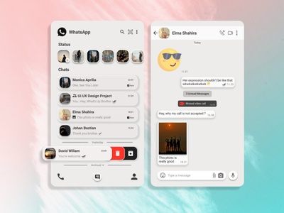 Konsep Aplikasi WhatsApp appdesigner uiuxcocept uiuxcocept uiux design uiconcept uiuxdesign whatsapp redesign whatsapp ui illustration design application app design android app development android app design android app adobe xd