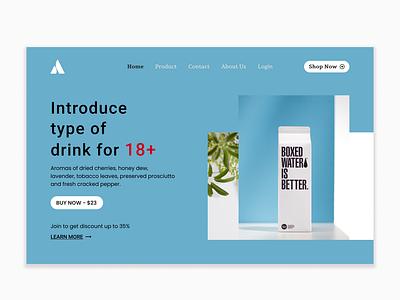 Aous for Drink 18+ Web Design personal website web design logo design illustration iphone 11 pro adobe xd application app design android app development android app design android app