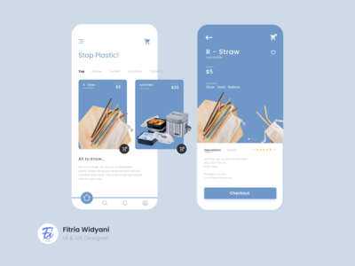 No Plastic App zerowaste plastic straw design app ux ui illustration