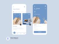 No Plastic App zerowaste plastic straw design app ux ui illustration