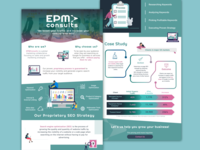 EPMConsults One Pager landing page typography web design onepage daily ui seo services seo agency ecommerce illustration branding inspiration clean design