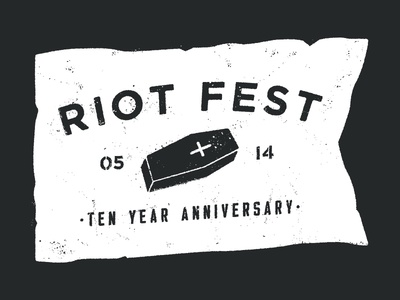 Riot Fest '14 Shirt Design flag riot fest shirt apparel texture design coffin dirty riot fest