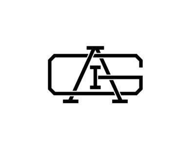 IGA Monogram monogram identity lockup logo simple clean lines basic