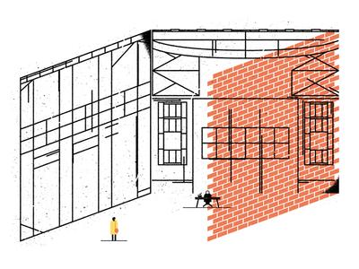 Garol garol illustration clean simple lines broad city minimal comedy transparent screenprint