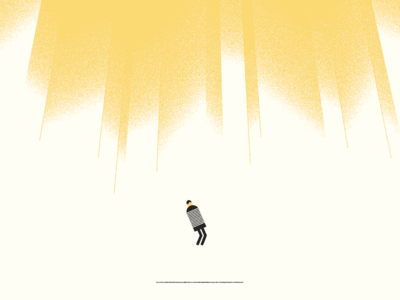 Lost in the Light illustration simple clean wip person screenprint texture rough icon vintage