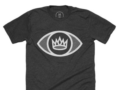 King's Eye on Cotton Bureau illustration shirt icon logo design simple halftone screenprint screen clean cotton bureau