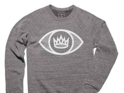 King's Eye Sweatshirt cotton illustration icon simple design logo eye screenprint clean sweatshirt shirt bureau