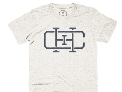 City of Big Shoulders Tee vintage city chicago monogram design texture shirt simple retro industrial icon illustration