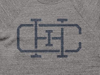 Chicago Monogram Tee chicago design logo monogram icon industrial shirt vintage simple texture illustration city