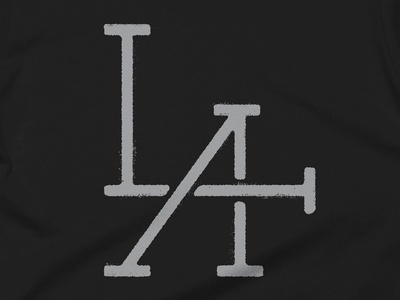 City of Angels Monogram Tee type industrial vintage design monogram clean icon simple illustration typography los angeles shirt