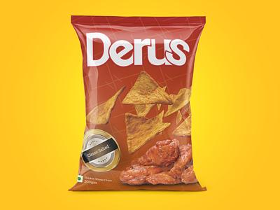DERUS - Chips packet design logo figma photoshop branding design ui