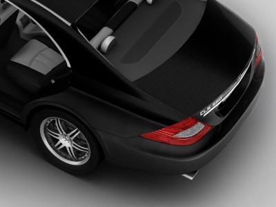 Mercedes Cls550 1 mercedes benz 3d ads black design