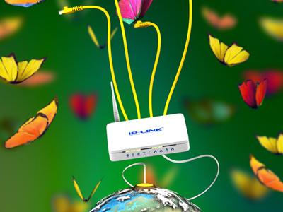 Modem & Internet ads butterfly 3d maya modem ads adv advertising cable internet