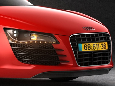 Audi R8 audi r8 3d graphic design maya automotive car