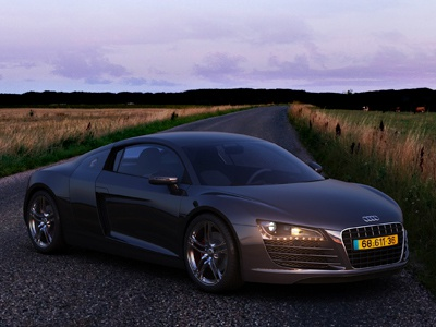Audi R8 - HDRI lighting audi r8 ads black design maya mental ray 3d