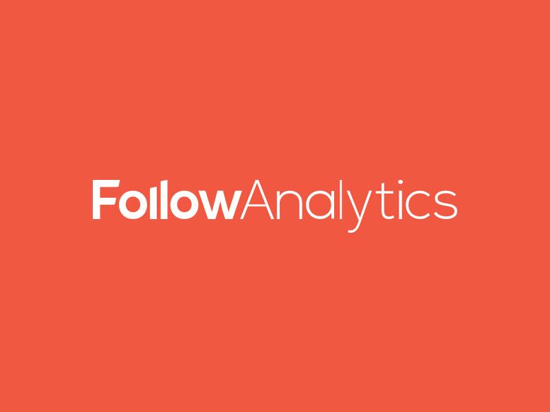 FollowAnalytics's new logo logo logotype red orange follow analytics mobile marketing platform