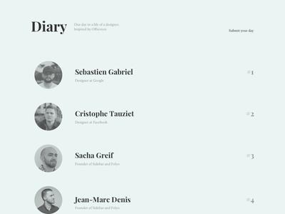 Diary - WIP