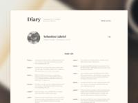 Diary – Profile